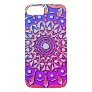 Mandala in Faux-Plastic Relief iPhone 8/7 Case