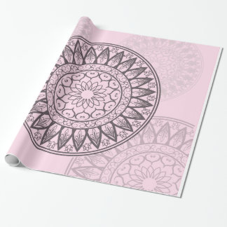 Mandala in Pink Wrapping Paper