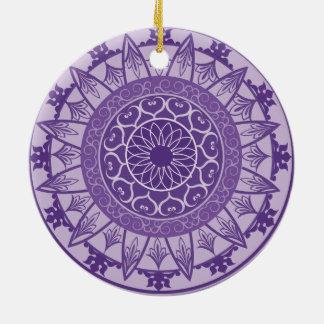 Mandala in Purple Christmas Ornament