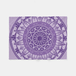 Mandala in Purple Fleece Blanket
