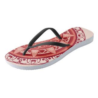 Mandala in Red Flip Flops