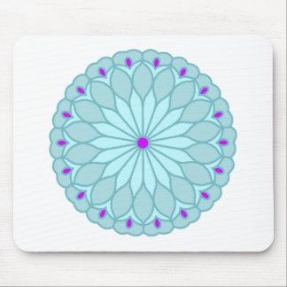 Mandala Inspired Baby Blue Flower Mousepads
