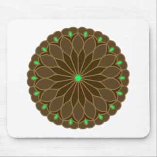 Mandala Inspired Earth Flower Mouse Pad