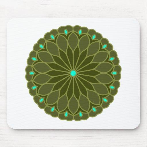 Mandala Inspired Flower Mousepads