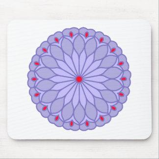 Mandala Inspired Lavender Flower Mouse Pad