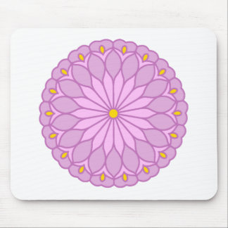 Mandala Inspired Lilac Pink Flower Mousepads