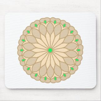 Mandala Inspired Pale Beige Flower Mousepad