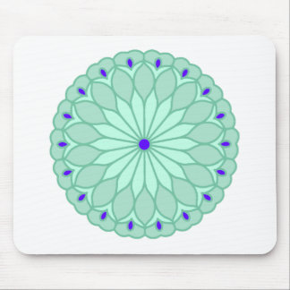 Mandala Inspired Pale Blue Flower Mousepad