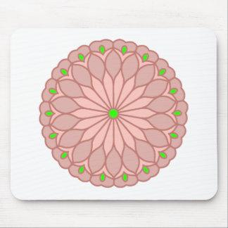 Mandala Inspired Pale Pink Flower Mousepad