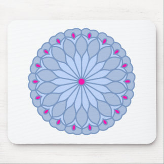 Mandala Inspired Periwinkle Flower Mouse Pads