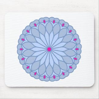 Mandala Inspired Periwinkle Flower Mouse Pad