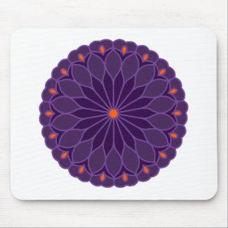 Mandala Inspired Purple Flower Mousepads