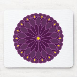 Mandala Inspired Violet Flower Mouse Pad