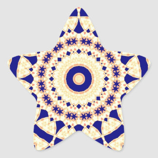 Mandala Kaleidoscope Actec Pattern Psychedelic Goa Star Sticker