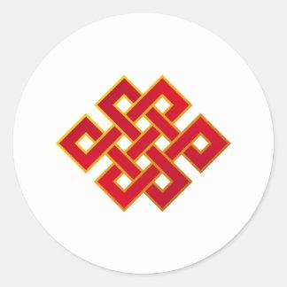 Mandala Karma Buddhism Eternal Knot Classic Round Sticker