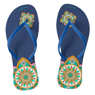 Mandala Lima Flip Flops