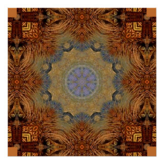 Mandala 'Lioness' Poster