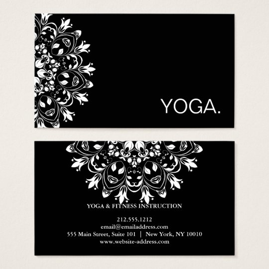 MANDALA LOGO CUSTOMIZED YOGA INSTRUCTOR BUSINESS CARD