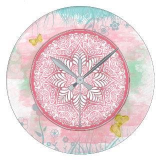 MANDALA ~ Lotus Of Spring - Wall Clock