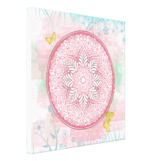 MANDALA ~ Lotus Of Spring - Wrapped Canvas