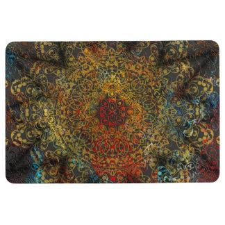 mandala love floor mat