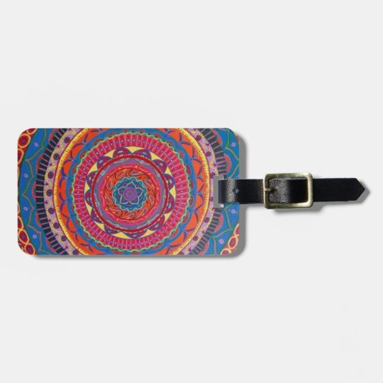 Mandala luggage tag