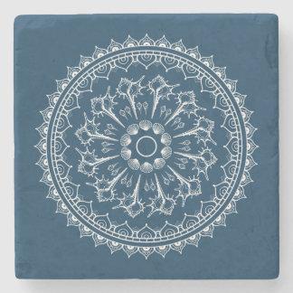 Mandala Made Of Seashells Stone Coaster
