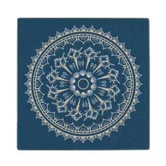 Mandala Made Of Seashells Wood Coaster