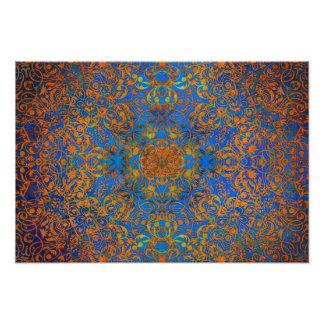 mandala magic blue photo print