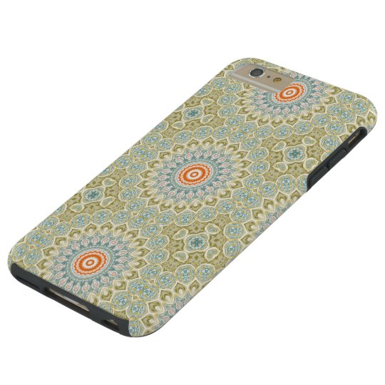Mandala Medallion in Green, Blue and Orange Tough iPhone 6 Plus Case