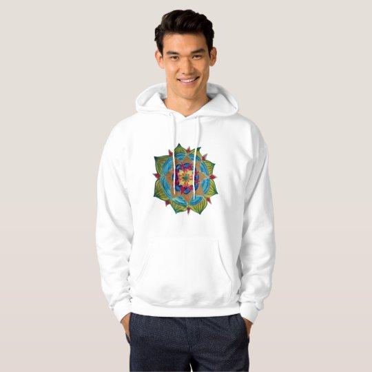 Mandala Men's Basic Hooded Sweatshirt