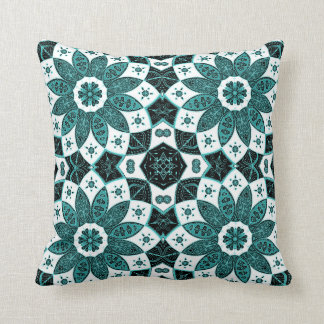 Mandala mint green pattern art design drawing cushion