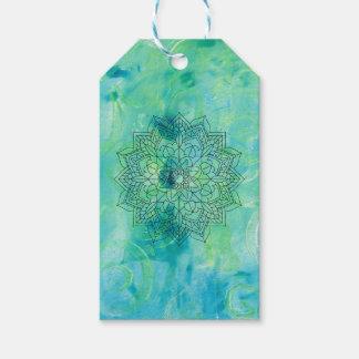 Mandala Monoprint Abstract 170267 Gift Tag