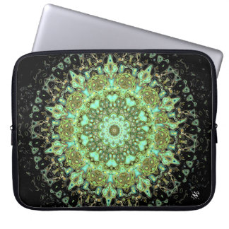 Mandala monsters laptop sleeve