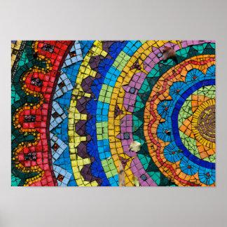 Mandala Mosaic Monte Verità Switzerland Poster