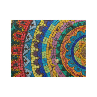 Mandala Mosaic Monte Verità Switzerland Wood Poster