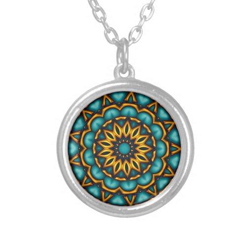 Mandala motive custom necklace