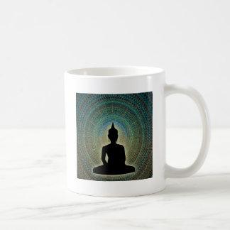 mandala basic white mug