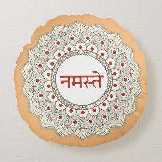 Mandala Namaste Yoga Woman Pillow