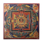 Mandala of Amitayus. 19th century Tibetan school Tile