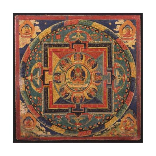 Mandala of Amitayus. 19th century Tibetan school Wood