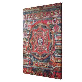 Mandala of Amoghapasa Stretched Canvas Prints