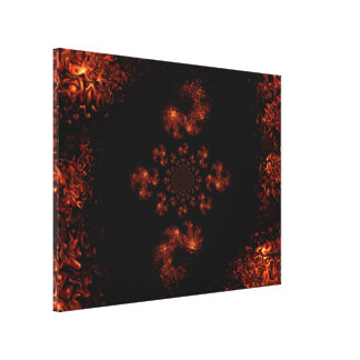 Mandala of Gold and Black Dragon 1 C1 SDL Gallery Wrapped Canvas