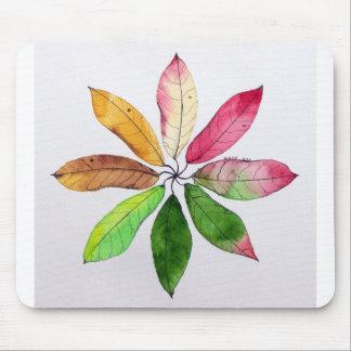 Mandala of Leaves Mousepad