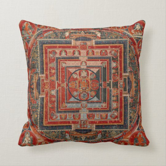 Mandala of Manjushri Throw Pillow