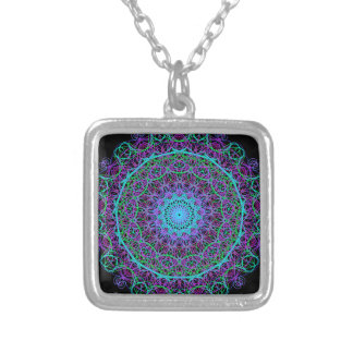 Mandala of Meaning Silver Plated Necklace