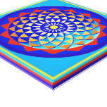 Mandala of Peace & Love Canvas Canvas Print