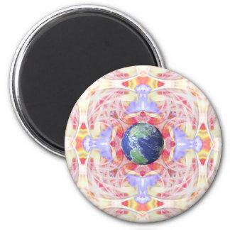 Mandala of Peace on Earth Magnet