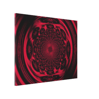 Mandala of the Sun in Scarlet C1 SDL Canvas Print
