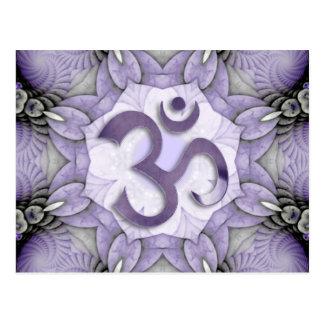 MANDALA OM - violet Postcard